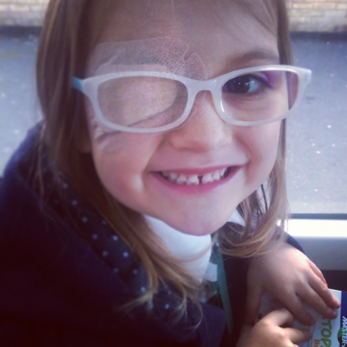 My daughter Esme is 6yrs old and has just recently moved to Brighton. Esme has worn an eye patch every morning for the last 2 years to improve the sight in her left eye. Despite feeling vulnerable she has grown in confidence and become very brave. Esme has the biggest heart, always empathetic to others feelings and always offering to help. Whilst waiting for a place at her brother's school she was inspired to right a song called 'Don't Cut Down the Trees' after reading a book on the rainforest. She would like to sing it in the streets to raise awareness. It moved me to see a child so young with such passion and drive.