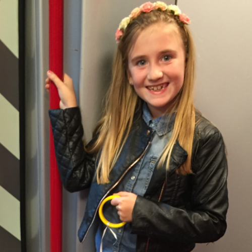 Evie-Grace is 9 and she lives with me and her three brothers and sister. Last year she was bullied by a neighbours child which means she doesn't really play out anymore. She lost her confidence and was quite  anxious. In the summer this year she attended our local Pauline Quirke Academy and starred in Matilda. Her confidence was amazing and it bought a tear to my eye to see how happy my little girl was again. I would love for her to see Matilda the musical it's her most favourite roald Dahl book and film. She to me is the most amazing shiny star x