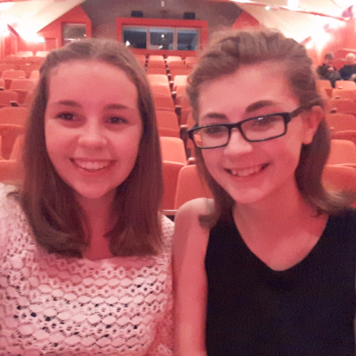 Hi there, my name is Mollie, and my best friend as well as my biggest inspiration is Jade Smith (on the right of the photo above) who is 16 as of September. Jade and I are avid musical lovers, and because of this, we have auditioned and been in 5 shows over the past year at our local theatre. Over the past year, I have seen both mine and Jades confidence blossom due to being in shows and making so many friends and learning new skills. However, I know that Jade suffers from anxiety and has done for a while now, sometimes so bad that she finds it hard to go outside or to go to school, as much as she enjoys being with her friends and learning. I know that it's hard enough to audition as it is, I can imagine it is even worse for Jade, as she often struggles in social situations. But from somewhere deep inside, she somehow finds the courage to do this which I think is amazing. I, like anybody find auditioning hard with the nerves anybody would get from performing in front of a group of people you don't know, but from seeing Jade, a person with extream anxiety, who can achieve what she has achieved, it has given me the strength to over come my nerves and do what I love. Because of her, the last year of my life has been the best, and I know I wouldn't do it if she wasn't there, and I know from other people that I am not the only one she has inspired. Thank you for taking the time to read this and thank you for the message of your beautiful play, which I know has influenced us both greatly.
