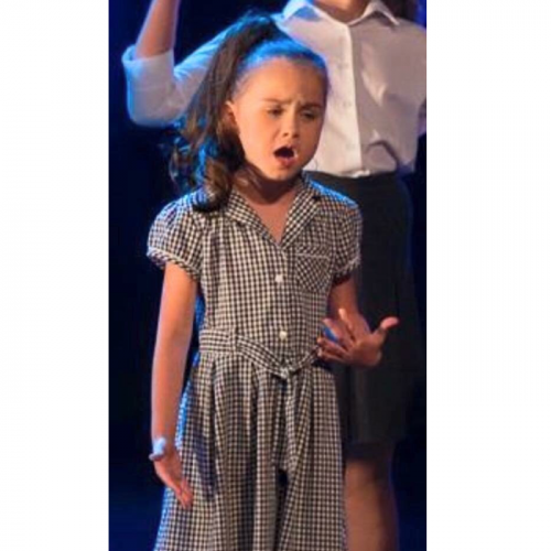 Olivia Marrows from Lincoln aged 7. Olivia is scared of the dark but has faced her  fears ( not liking the black outs after each number ) and has been involved in two charity shows for Lincoln  CATS group to raise money for the special baby unit at Lincoln county Council . 3 songs and 4 dances per show. I nominate Olivia for facing her fears and continuing to do something she loves . The photo is her singing When I grow up from Matilda .